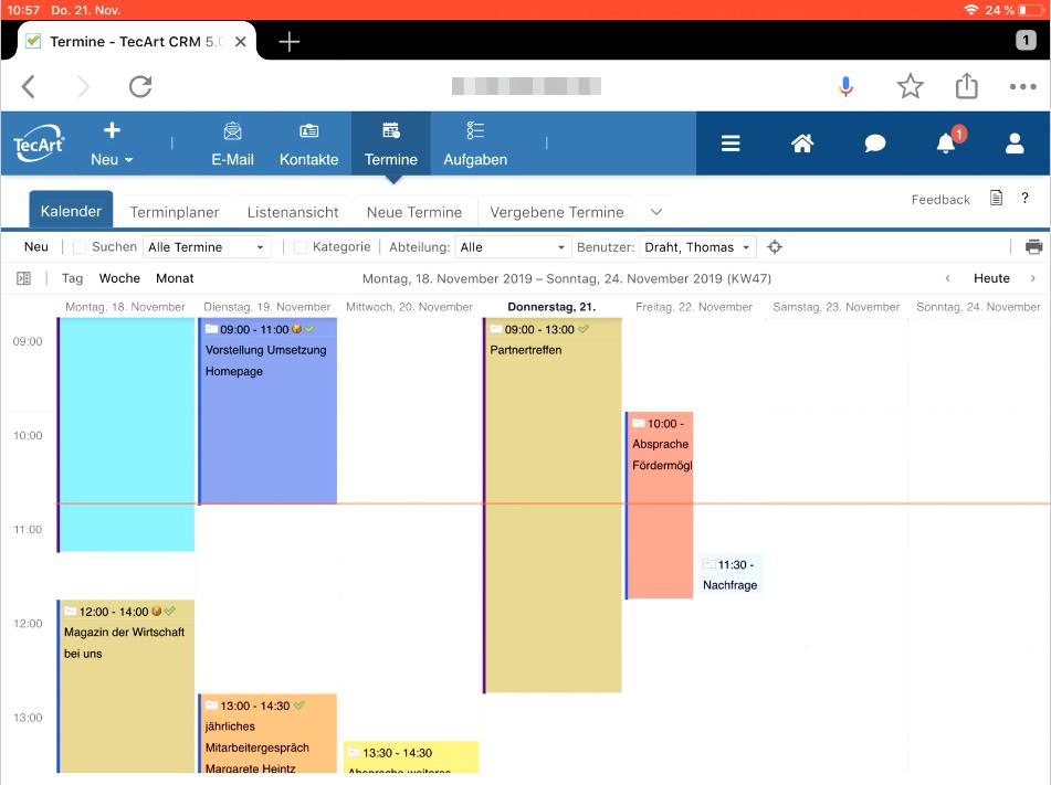 TecArt CRM Personal Planung